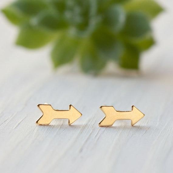 30Pair tiny simple cupid arrow stud earring bows arrows Stud Earrings Geometric triangle chevron Stud Earrings