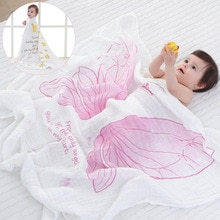 Bufanda ruyi bebe de doble capa de muselina de algodón de gasa, toallas para bebé recién nacido, toalla envolvente para bebé, manta transpirable para bebé