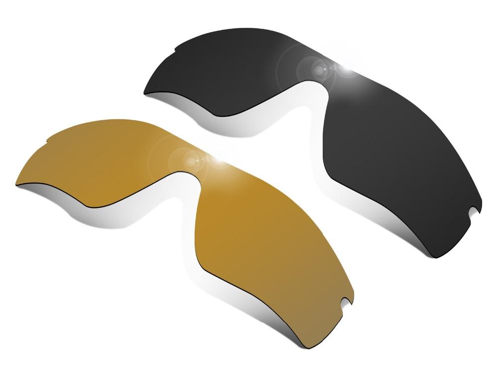 Glintbay 2 قطع الاستقطاب النظارات الشمسية استبدال العدسات ل أوكلي الرادار مسار الشبح الأسود والبرونز الذهب