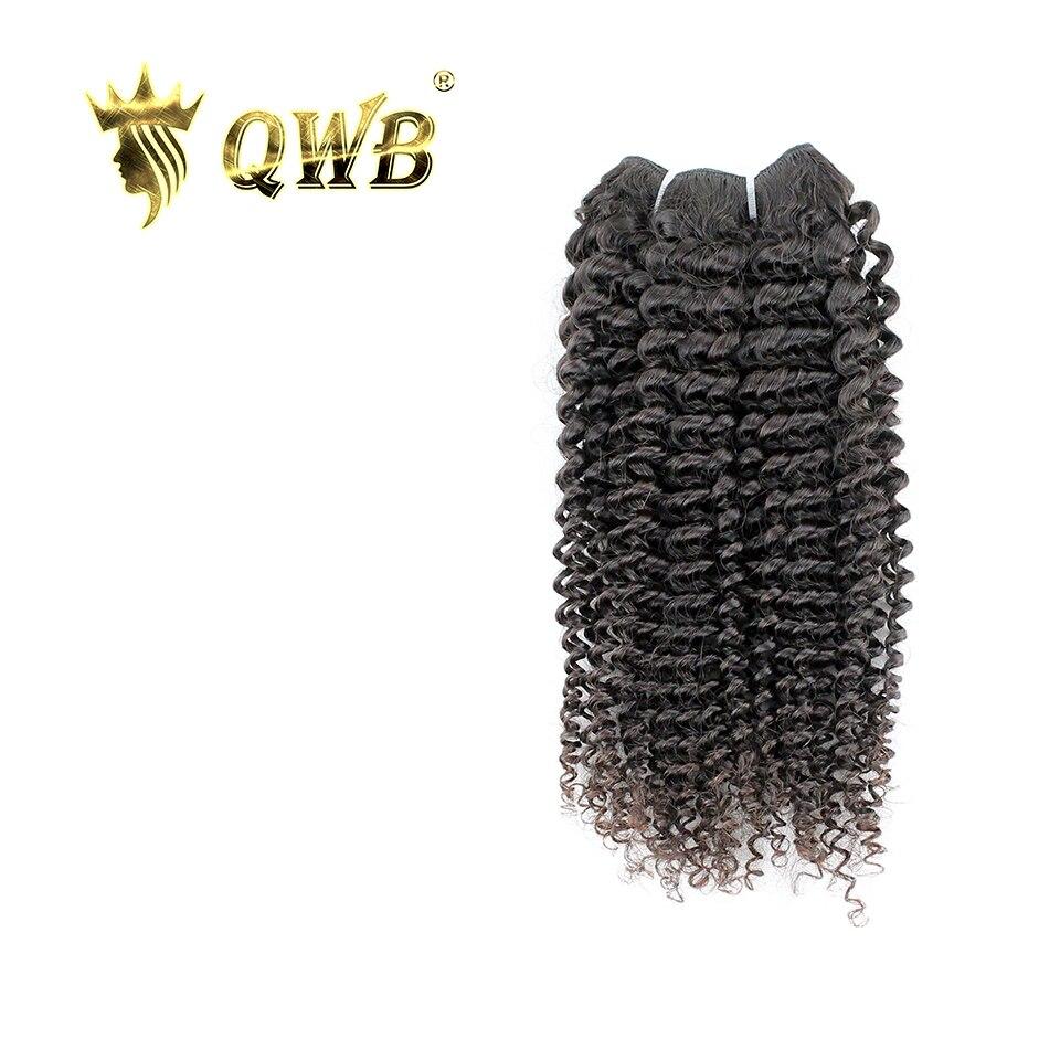 Qwb kinky encaracolado livre combinação 12 professional 24 24 24 professional relação profissional cabelo virgem brasileiro natureza cor 100% extensão do cabelo humano