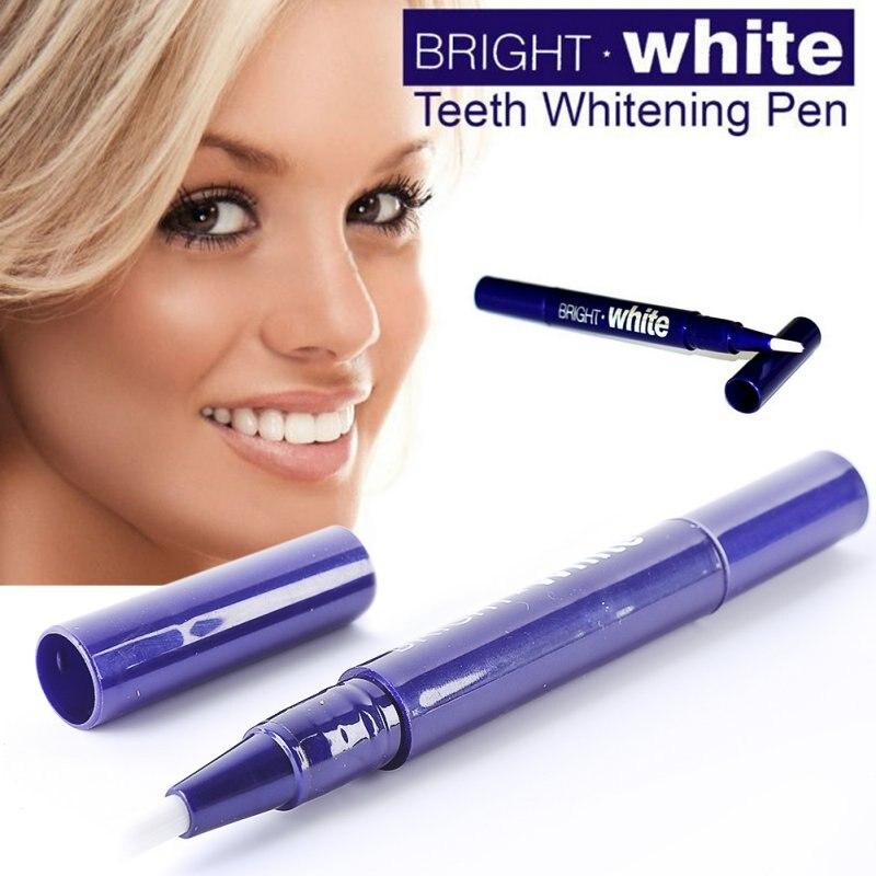 1Pc Portátil Dental Teeth Whitening Gel Pen/Tira De Limpeza Dos Dentes Branqueamento Escova de Dentes Brancos Brilhantes Canetas Vida Diária ferramenta