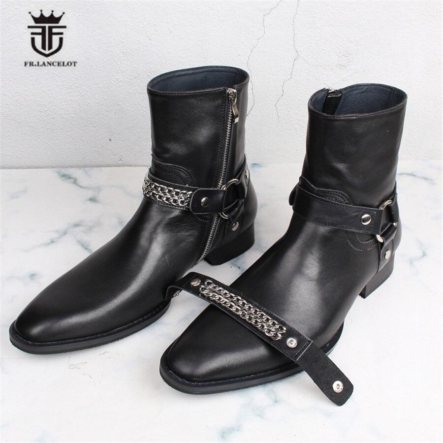Мужские джинсовые ботинки челси из натуральной кожи ручной работы с двумя