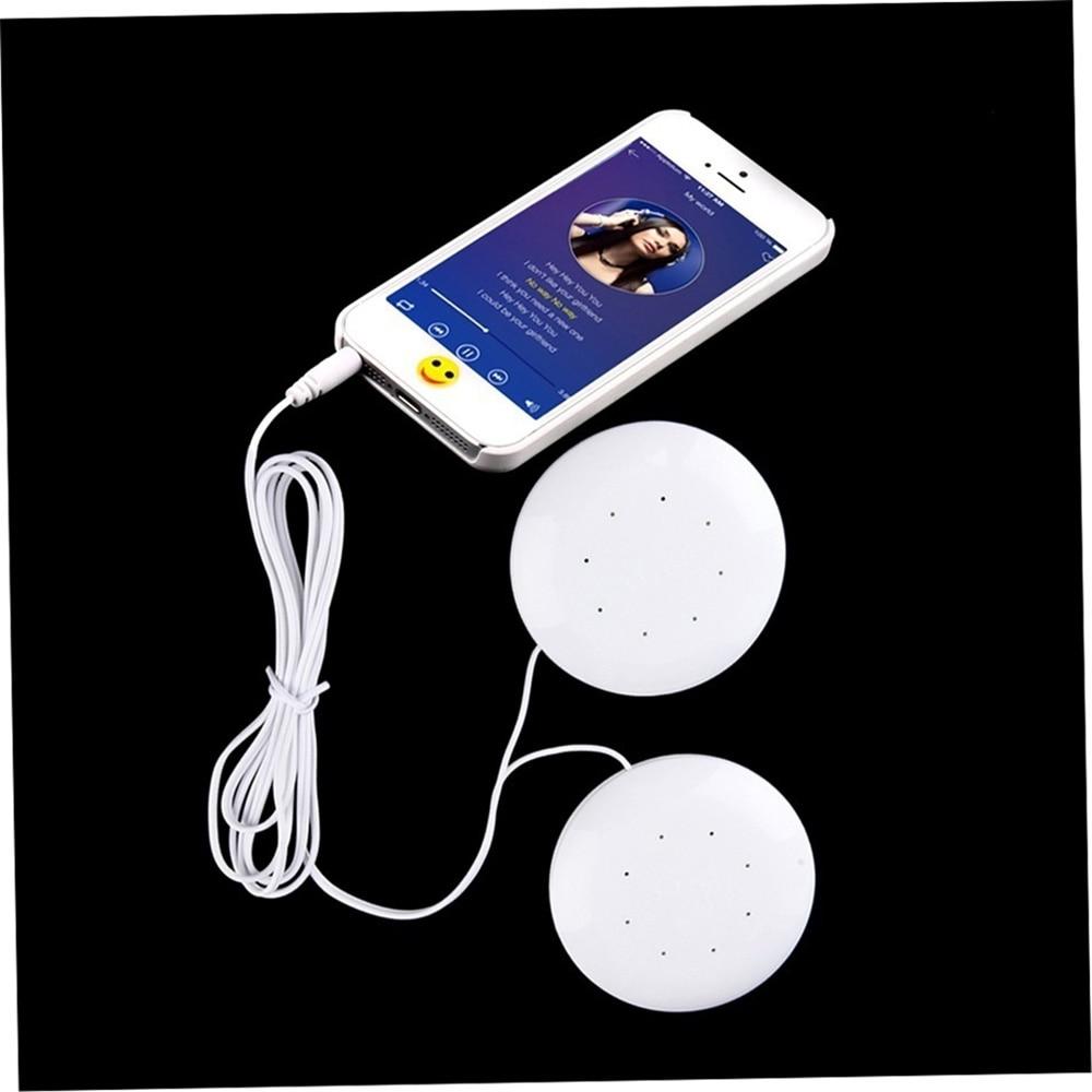 1pc Dual 3.5mm Speakers Music Pillow for MP3/ MP4 Music Player vw6 Loudspeaker White High Fidelity (household)