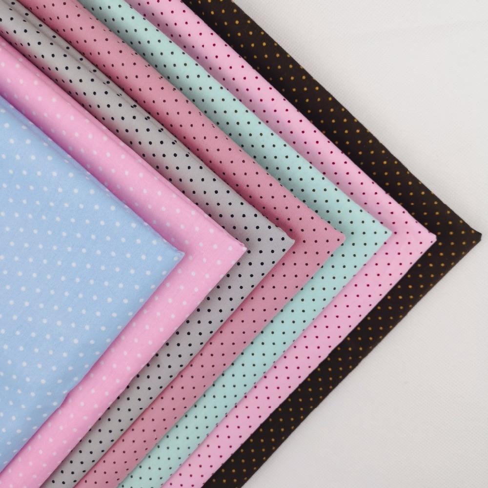 Twill Mini Dot Printed 100% cotton patchwork 40*50cm quilting fabric fat quarter bundle set Diy Sewing Textile Cloth Free Ship