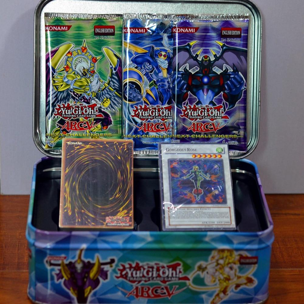 109PCS Yu Gi Oh Game Cards Metal Box Cartoon Yugioh Play Japan Boy Girls Yu-Gi-Oh Collection Fun Toys