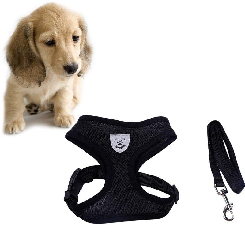 Дышащий поводок и поводок для собак, набор, нейлоновая сетка, щенок, маленькие собаки, кошка, одежда, аксессуары, жилет для щенков, сетка для чихуахуа