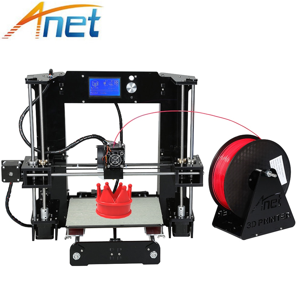Anet A6 & A8 Normal/Auto Level 3D Printer Plus Size Reprap Prusa i3 3D Printer Kit DIY Impresora 3d with 10m Filament 3d printer