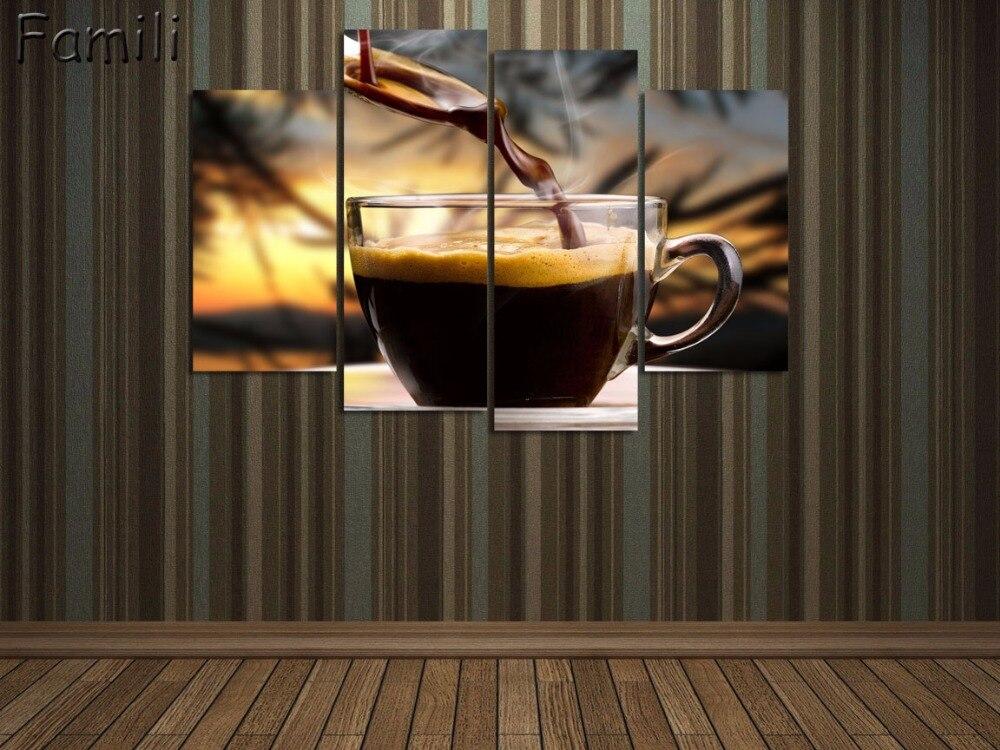 Paiting Oil Impresso Pintura Retrato do feijão de café Tela HD de Impressão Modernas de Pintura Sem Moldura Da Parede Da Lona para Sala de estar 3 Pcs