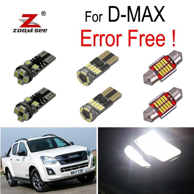 6pcs x 100% Error Free LED interior dome bulb + license plate light kit for Isuzu D-MAX D MAX Dmax I II (2002-2019)