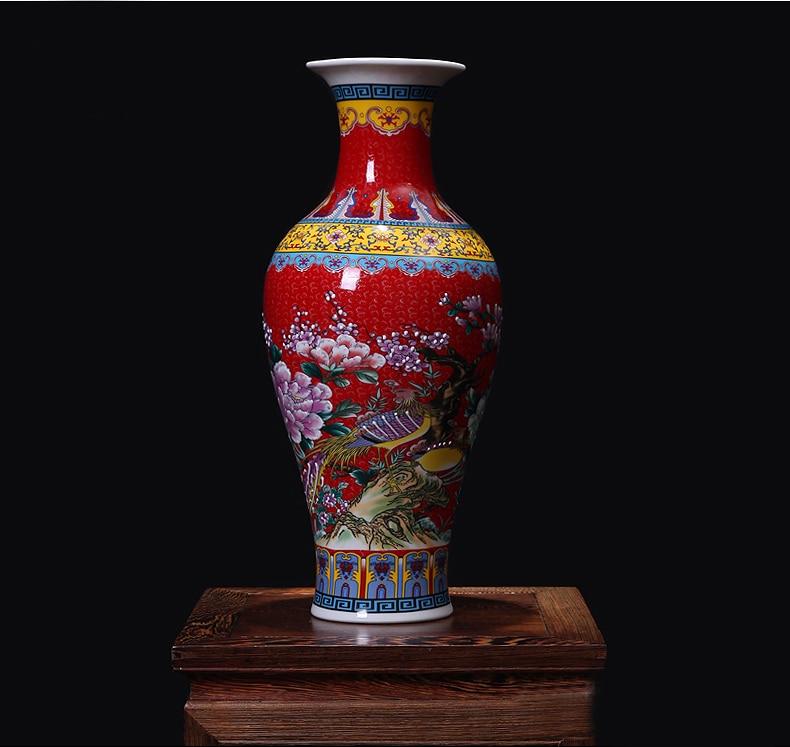 Wedding Decoration Chinese Big Antique Enameled Porcelain Ceramic Vases