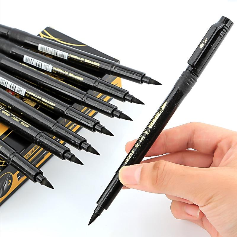 1/3 Uds pluma de caligrafía pluma de mano plumas para caligrafía pincel de relleno plumas para caligrafía marcadores y plumas para escribir bolígrafos de tinta negra marcador de arte