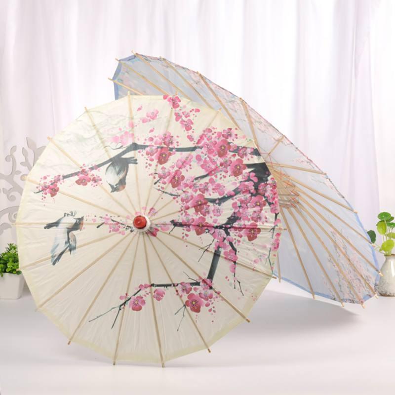 Sombrilla de papel al óleo de China para decoración del hogar, sombrilla de artesanía de bambú para actuación de danza clásica, accesorio de fotografía Cosplay