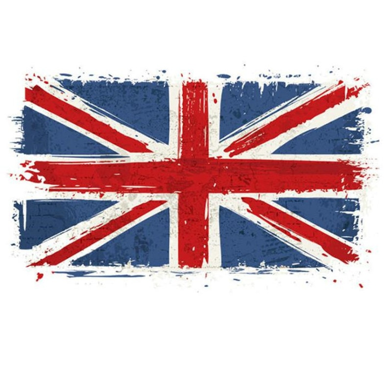 Parche de PVC de moda ropa de gran bandera británica transferencia térmica impresión camiseta mujeres planchar en parches para ropa pegatinas de máscara