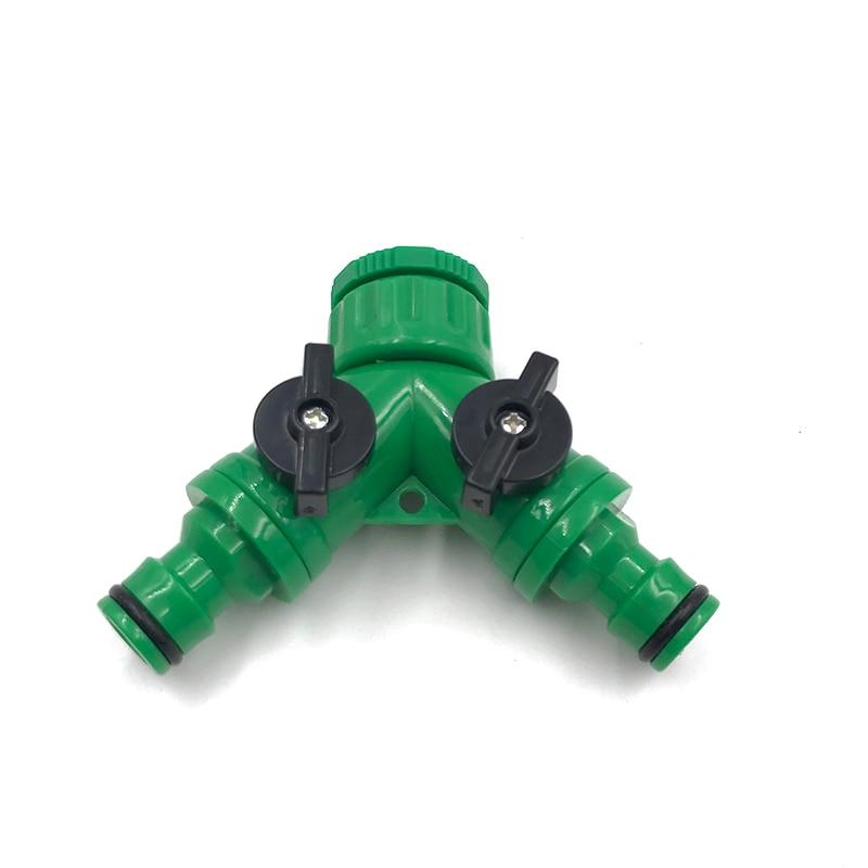 """1/2"""" & 3/4"""" Water Tap Splitter 2 Way Quick Connector Adaptor Y Shape Garden Tap Splitter for Irrigation"""