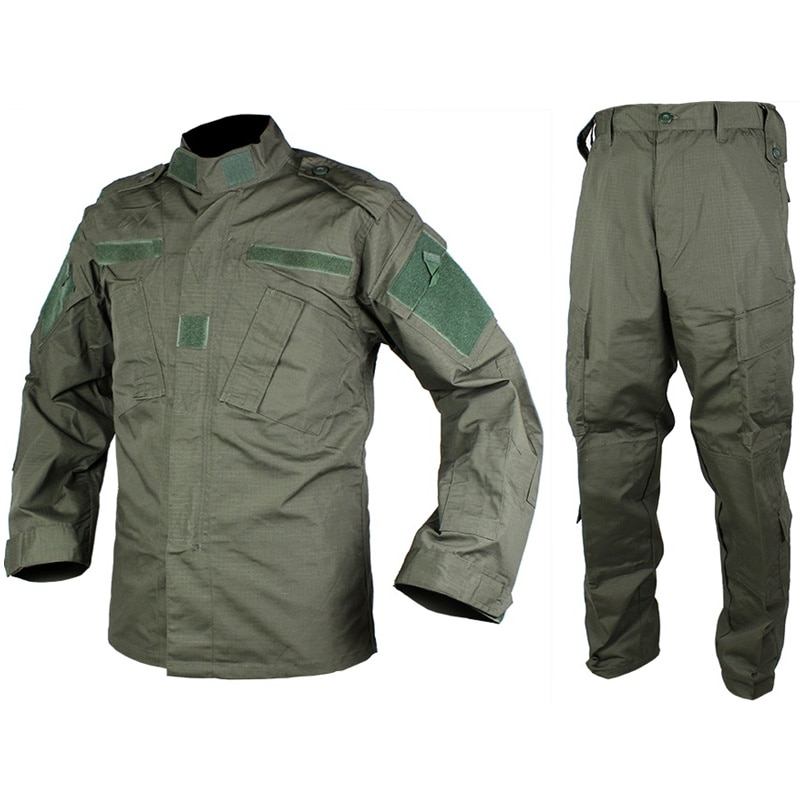 CQC Tactical Airsoft Military Army Uniform BDU Combat Shirt & Pants Set Outdoor Paintball Training Hunting Clothing(OD) us army military uniform for men custom combat shirt