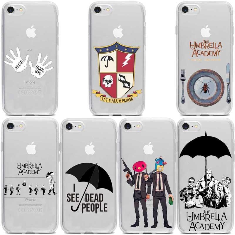 Зонт Академии ТПУ Мягкий Прозрачный чехол для iphone iPhone11 11Pro 11ProMax X XR XS Max 8 8Plus 7 7Plus 6 6Plus 5 SE