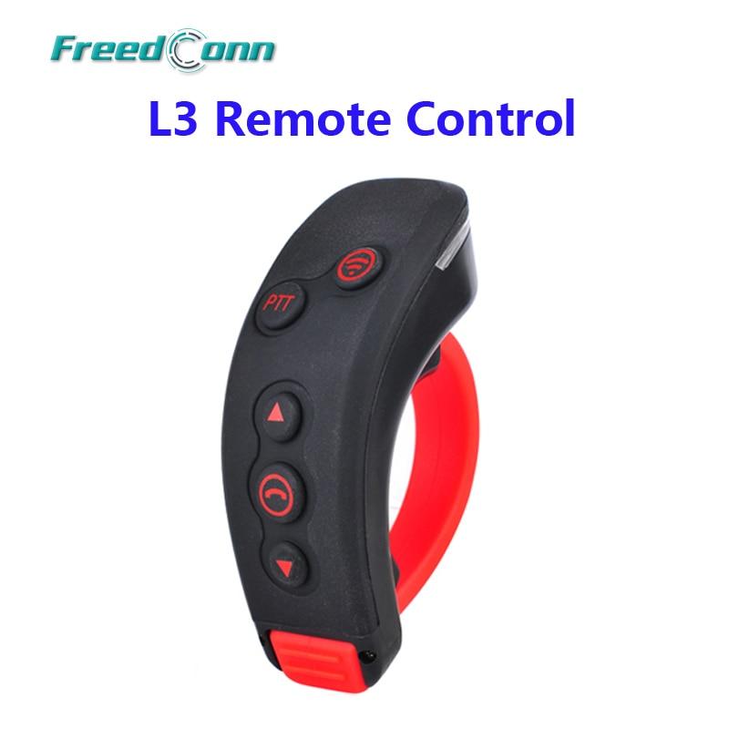 Freedconn l3 ptt handbar bt controle remoto bluetooth motocicleta capacete da bicicleta intercom fone de ouvido para l1, l2, COLO-RC, T-REX