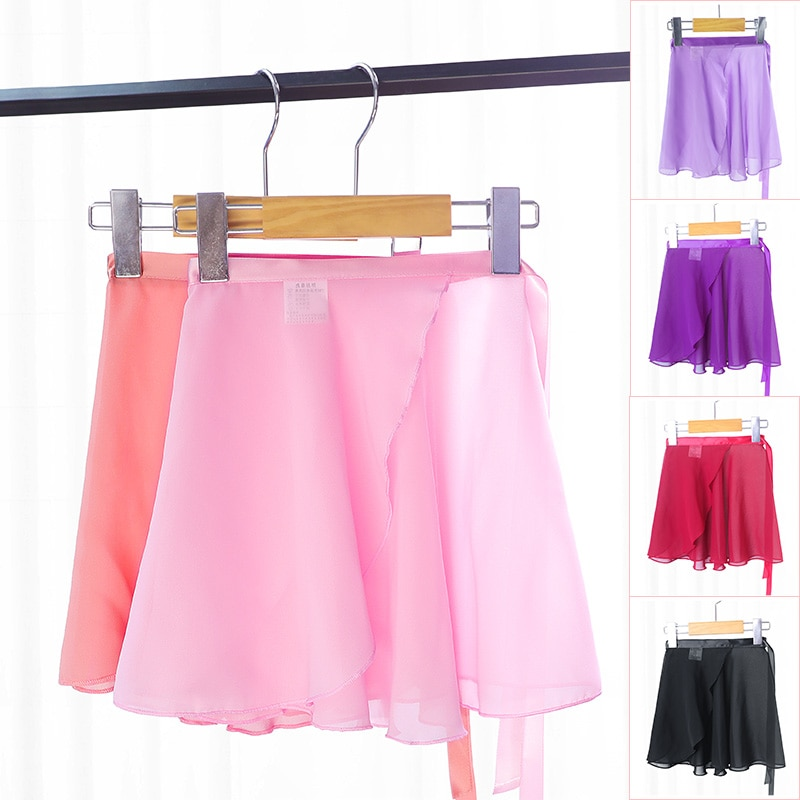 Женские Балетные юбки для девочек, прозрачная шифоновая юбка с завязками, танцевальная юбка для взрослых, купальник с юбкой, танцевальная одежда для балета