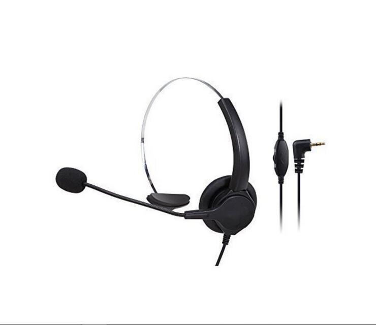 Control de volumen de los auriculares del Centro de Llamadas de 2,5mm con micrófono, cancelación de ruido de auriculares para el teléfono de la Oficina del hogar