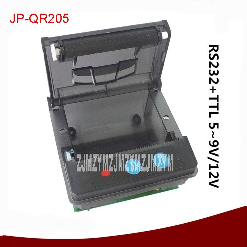 JP-QR205 impresora térmica de recibos de bajo ruido súper pequeña incrustada de 58mm Puerto USB opcional RS-232/TTL diferentes impresoras 5V-9V cc 12V