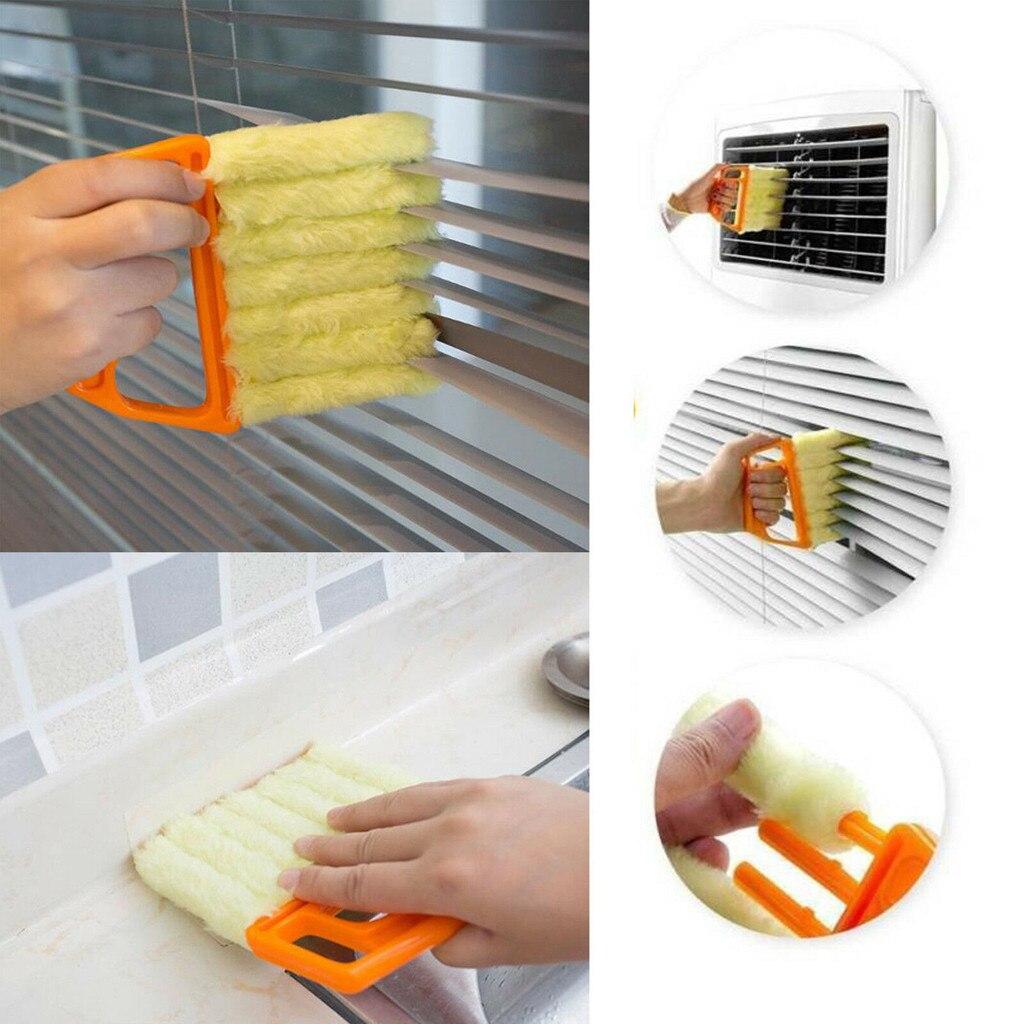 Microfibra para limpieza de ventanas cepillo de aire acondicionado lavable limpiador de polvo veneciano lámina ciega paño de limpieza producto de cocina