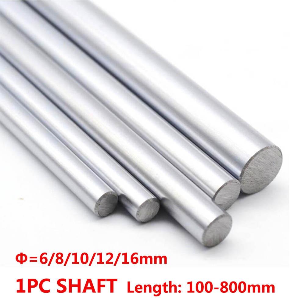 1 шт. 6 мм 8 мм 10 мм 12 мм 16 мм OD длина линейного вала 100-800 мм Гильза цилиндра рельса для 3D принтера оси CNC частей