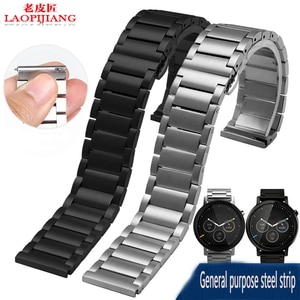 laopijiang 360 Motorola two generation Ticwatch GearS2 Samsung smart watch with stainless steel watchband
