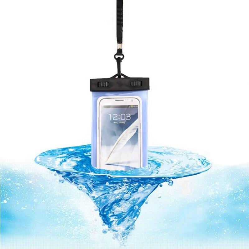 Bolsa de teléfono móvil con cierre de carpeta redonda, impermeable, esencial para deportes acuáticos, Rafting, natación