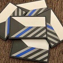 Patchs militaires patriotiques PVC 3D 1 pièce   Patchs à crochet et boucle pour drapeau de la république tchèque avec colle pour sac à dos de bricolage