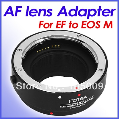 Fotga anel adaptador de lente de af, metal, anel adaptador para lentes ef EF-S para eosm/m2/m3/m10 EOS-M