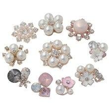 Perle strass embellissements boutons Flatback décoratif pour artisanat nœud papillon fleur décoration artisanat bricolage fournitures 10 pièces