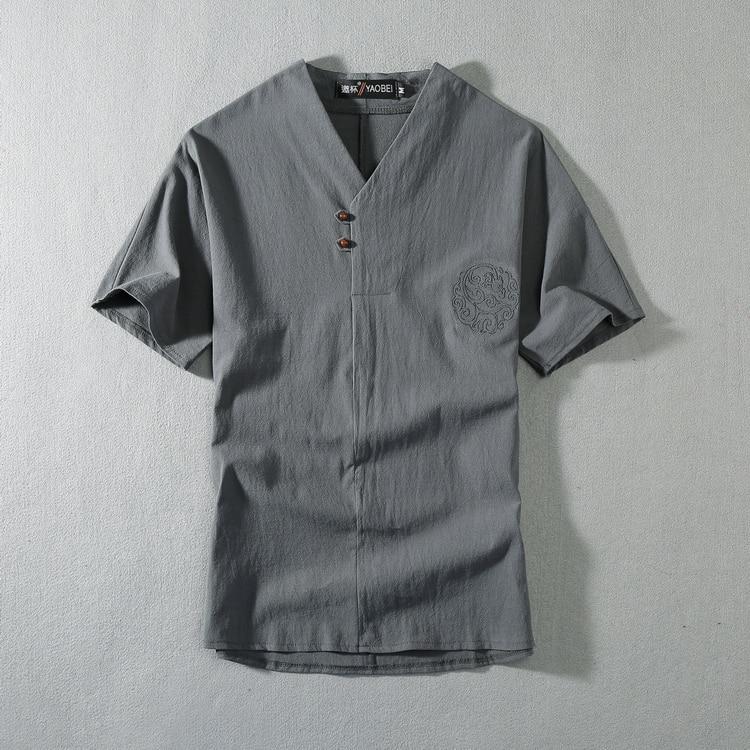 Летние мужские льняные хлопковые футболки с коротким рукавом, большие размеры 9XL 8XL 7XL 6XL 5XL