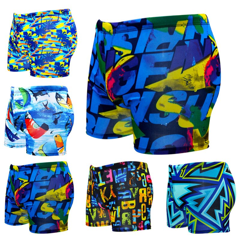 Homens verão Impresso Sunga Praia Fina Swimmsuit Garoto Boxer Shorts Calças Prancha de Surf Beach Wear Swimwear Plus Size