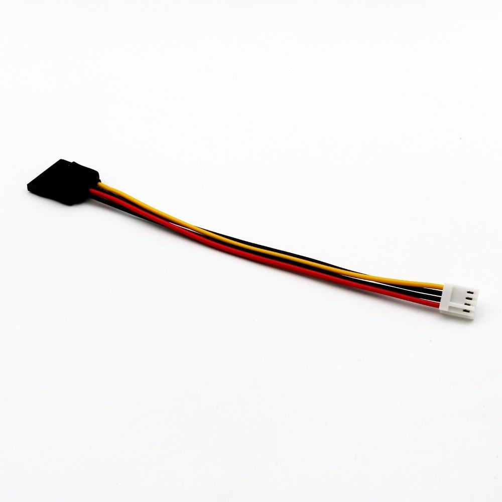 5 uds SATA 15 Pin hembra a 4 Pin Floppy FDD hembra Jack cable de alimentación Cable Adaptador convertidor 20cm