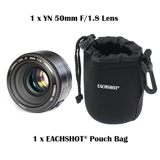 YONGNUO YN 50 MM F1.8 Grande Abertura Auto Focus Lens Para Canon Ef EOS Camer + Lens Bag para presente