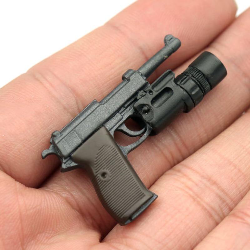 1/6 масштаб WWII Walter P38 P-38 пистолет оружие Модель игрушки для 12