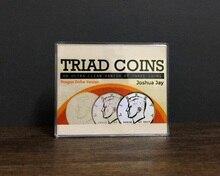 Pièces de triade (Morgan Gimmick) de Joshua Jay pièces de monnaie disparition/apparition classique pièces de monnaie tours de magie gros plan accessoires de magie Illusions