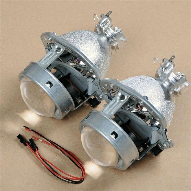 AES 3.0 inch Hella 4 E55 BI-Xenon Projector Lens Aftermarket Retrofit Halogen  HID Car Headlights Upgrade Light source