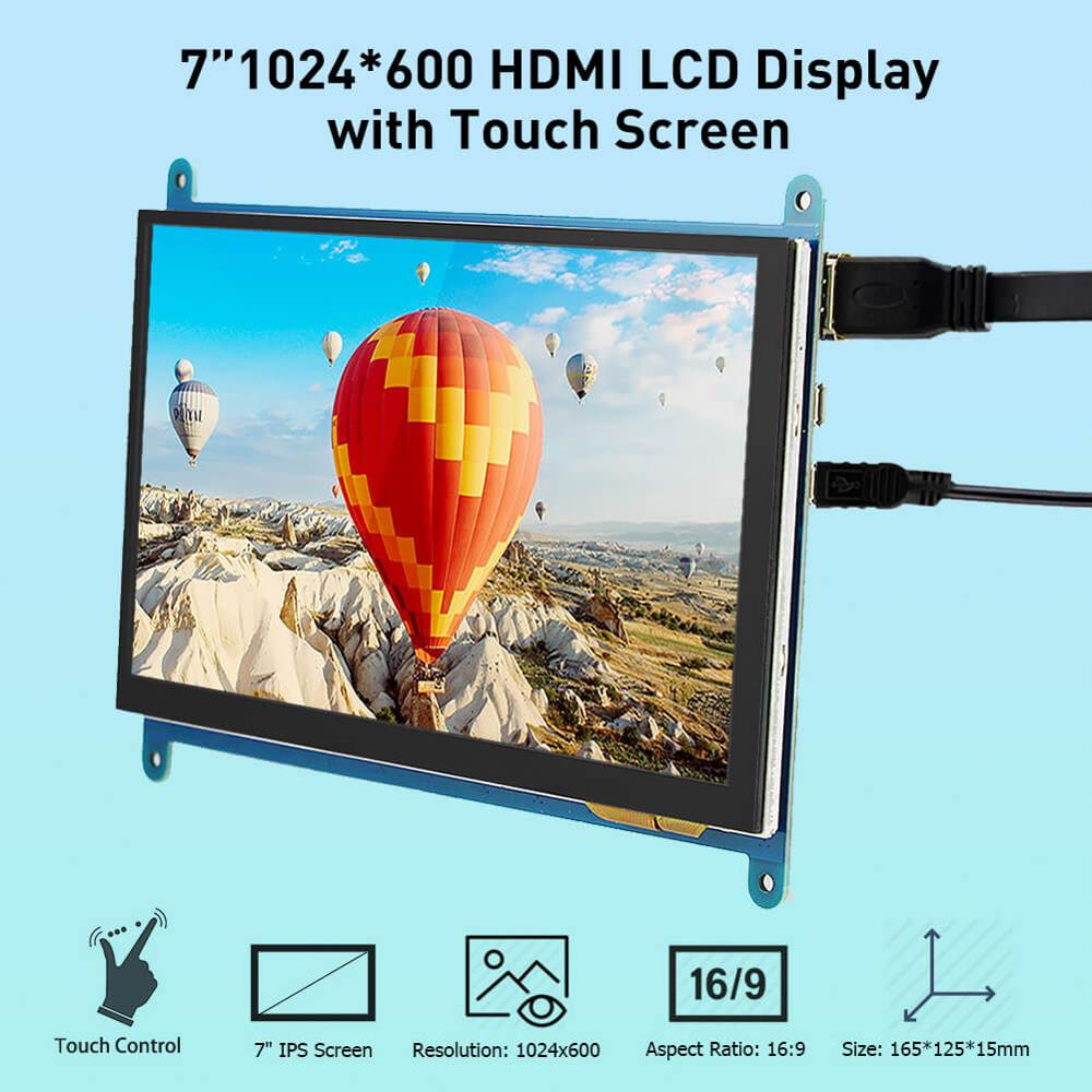 new 7 inch usb hdmi lcd display monitor capacitive touch screen holder case for raspberry pi windows jetson nano Elecrow Raspberry Pi Displays 7 Inch Capacitive Touch Screen HD LCD TFT 1024X600 Monitor 7inch RPI Display for Raspberry pi