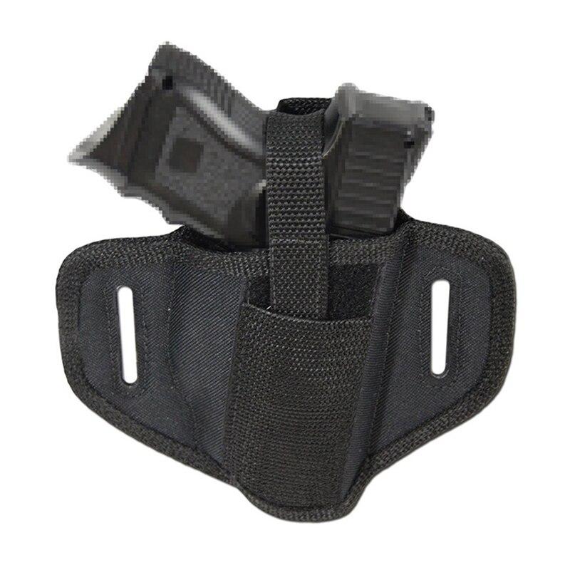 Funda de cinturón de nailon para pistola compacta Universal táctica de mano derecha izquierda funda de cinturón de tiro accesorios de caza