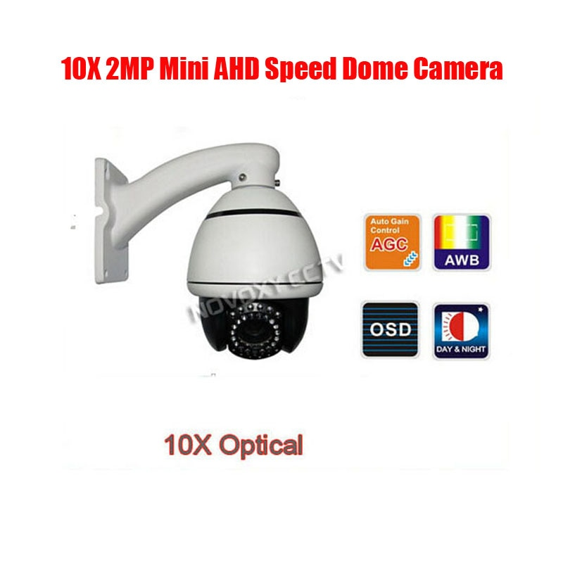 Freies verschiffen NOVOXY 4 in 12MP 5MP AHD TVI CVI CVBS 4-Zoll 10x Mini IR 30m PTZ speed Dome Kamera mit Ceilling oder Wand Halterung