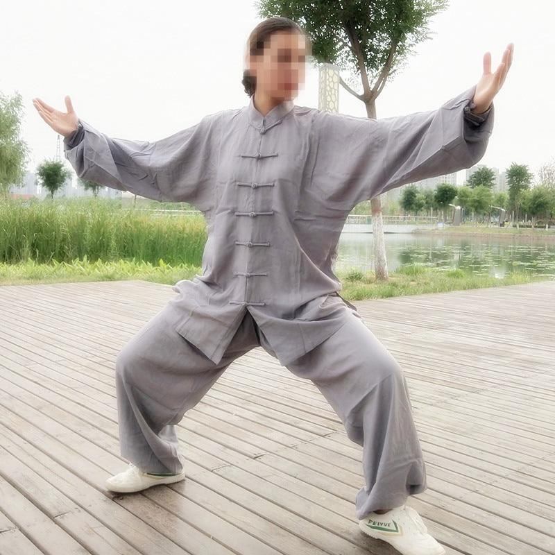 USHINE Заводская цена высокое качество Taichi Униформа хлопок Wushu KungFu для детей Одежда для взрослых боевые искусства крыло Чун костюм Человек| | | АлиЭкспресс