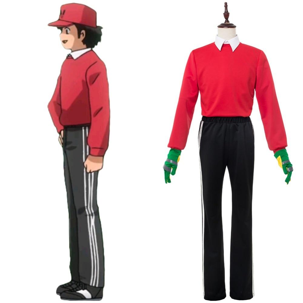 Капитан Цубаса Косплей 2018 Genzo Wakabayashi красные костюмы Униформа Хэллоуин карнавальные костюмы
