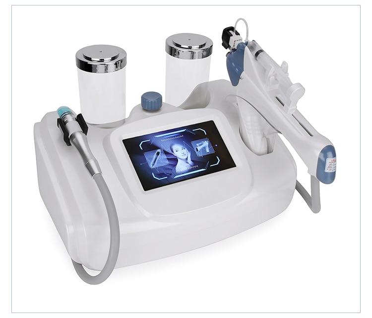 Máquina facial multifuncional 2 en 1 para pelar agua, pequeña burbuja, inyección de meso para la piel, pistola de mesoterapia para uso en salón, DHL