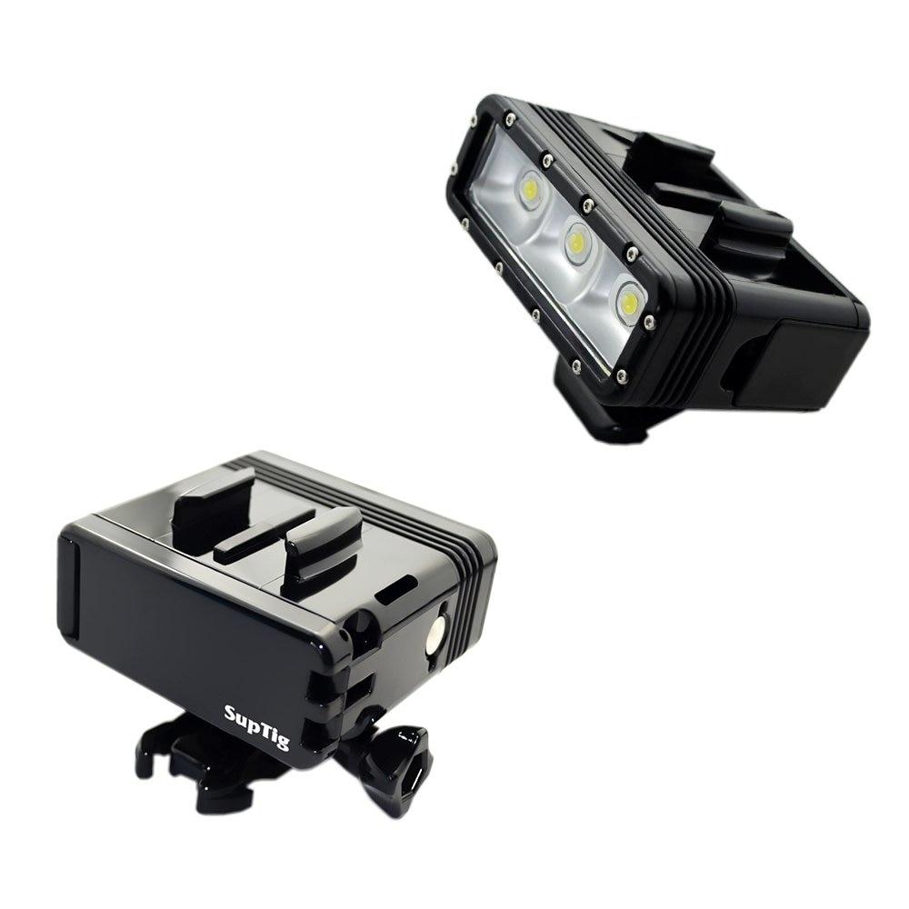 المزدوج البطارية الغوص فلاش ضوء تحت الماء Led ملء ضوء ل Gopro Hero8 7 6 5 4 جلسة 3 + 3 Xiaomi يي 4K Insta360 اكسسوارات