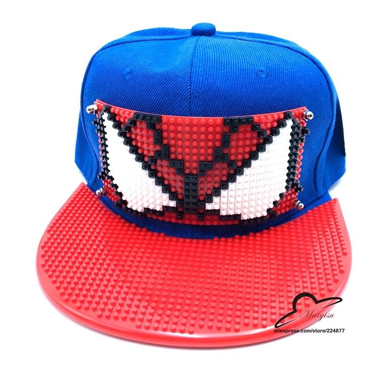 Neue Ankunft Spinne Mann Cosplay Kappe rot Marvel Comics Hero damen kleid Hut charme Kostüm Requisiten Baseball kappe leinwand snapback kappen