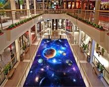Papel pintado decorativo beibehang, papel tapiz para interiores, estrellas creativas, Galaxia, universo, papel de pared para suelo 3D