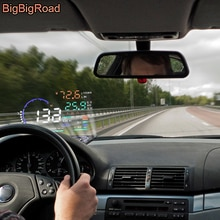 BigBigRoad para BMW Serie 3 5 7 E83 E46 E65 E66 E67 E68 F01 F02 GT F30 F31 coche HUD Head Up Display parabrisas para proyector OBD2