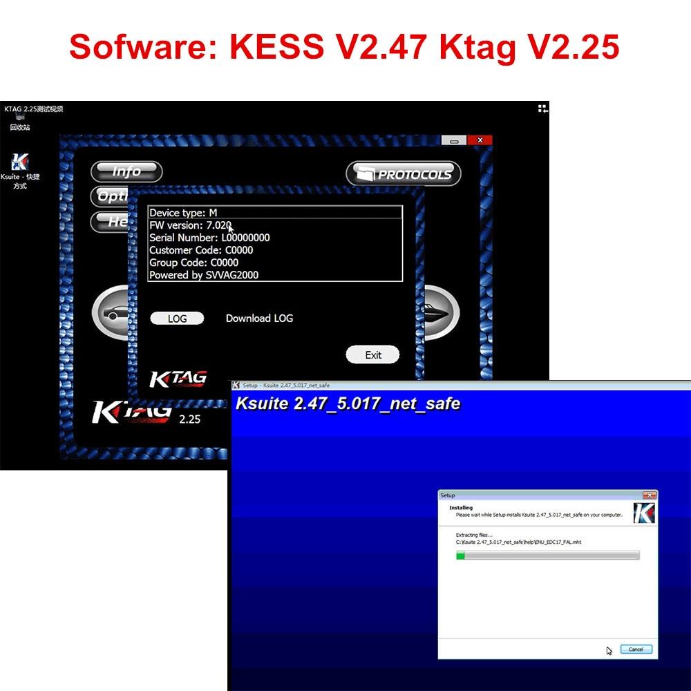 Neueste KTAG V2.25 KESS 2,53 V2.47 Software K-TAG K TAG 7,020 2,25 KESS V2 5,017 2,47 V2.53 Online Version Software download Link
