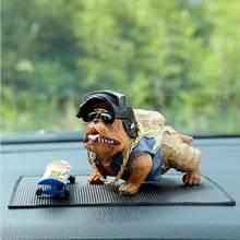 Voiture intérieur accessoires ornements Bully chien voiture décoration bouledogue poupée jouets tableau de bord ornement style accessoires